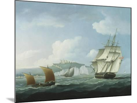 Shipping off Dover Castle-Thomas Buttersworth-Mounted Giclee Print