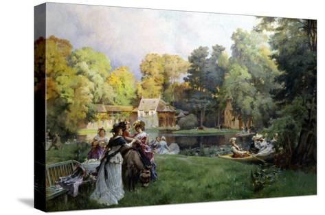 Summer Party at the Trianon-Emile-Charles Dameron-Stretched Canvas Print