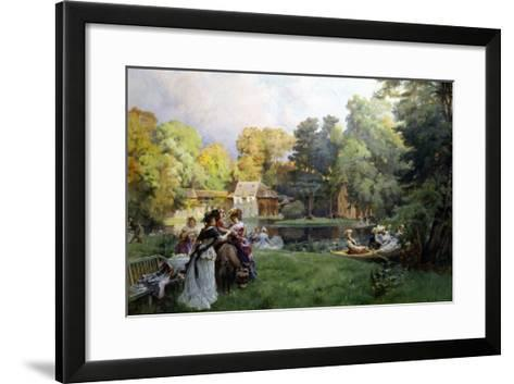 Summer Party at the Trianon-Emile-Charles Dameron-Framed Art Print