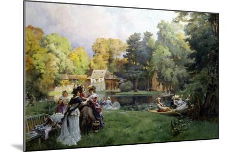 Summer Party at the Trianon-Emile-Charles Dameron-Mounted Giclee Print