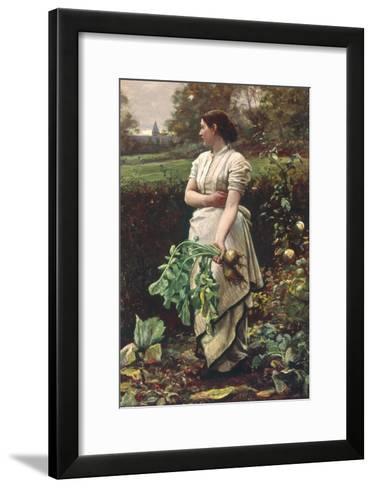 Picking Turnips-Robert Crawford-Framed Art Print
