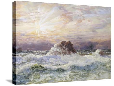 Glorious Sunset-John Brett-Stretched Canvas Print