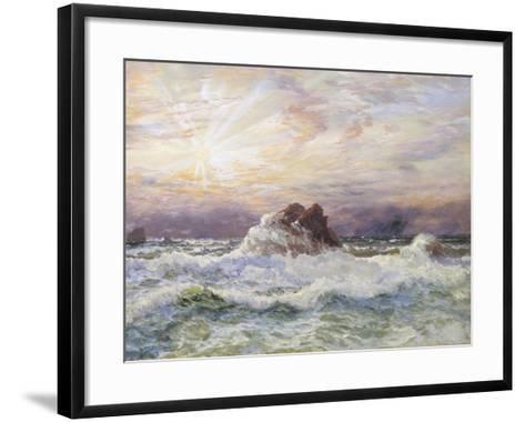 Glorious Sunset-John Brett-Framed Art Print