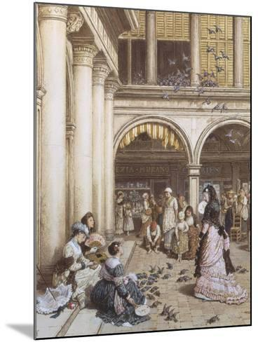 Feeding the Pigeons, Piazza San Marco, Venice-Myles Birket Foster-Mounted Giclee Print