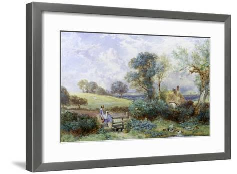 At the Pond-Myles Birket Foster-Framed Art Print