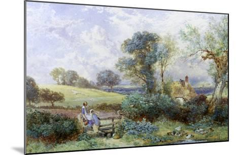 At the Pond-Myles Birket Foster-Mounted Giclee Print
