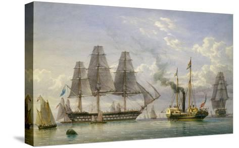 Queen Victoria on the Royal Yacht-William Joy-Stretched Canvas Print