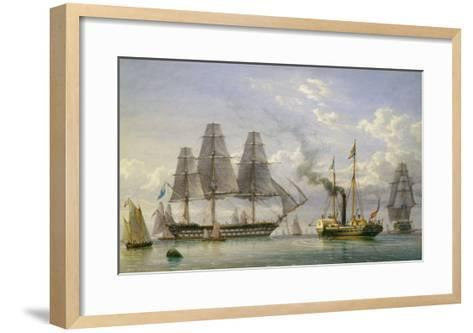 Queen Victoria on the Royal Yacht-William Joy-Framed Art Print