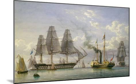Queen Victoria on the Royal Yacht-William Joy-Mounted Giclee Print