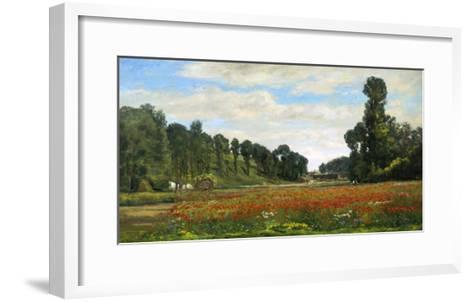 The Poppy Field-Hippolyte Delpy-Framed Art Print