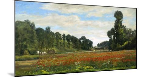 The Poppy Field-Hippolyte Delpy-Mounted Giclee Print