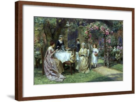 The Tea Party-George S. Knowles-Framed Art Print
