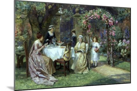 The Tea Party-George S. Knowles-Mounted Giclee Print