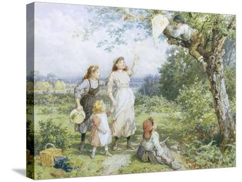 The Entangled Kite-Myles Birket Foster-Stretched Canvas Print
