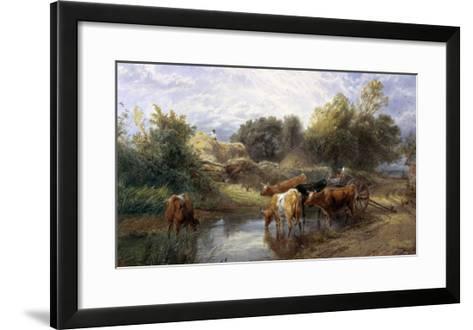 Watering Time-Myles Birket Foster-Framed Art Print