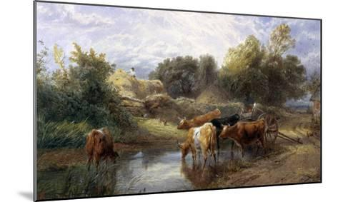 Watering Time-Myles Birket Foster-Mounted Giclee Print