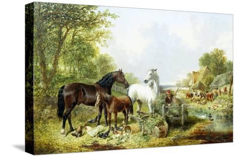 Ready for Work-John Frederick Herring II-Stretched Canvas Print
