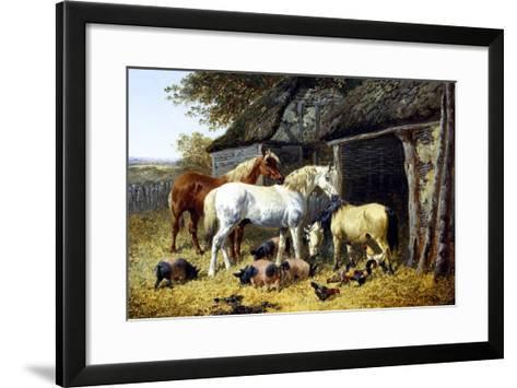 Farmyard Friends-John Frederick Herring II-Framed Art Print