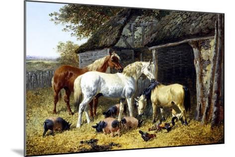 Farmyard Friends-John Frederick Herring II-Mounted Giclee Print