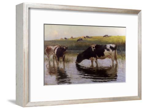 At the Drinking Place-Henry Bisbing-Framed Art Print
