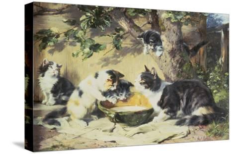 Happy Family-Julius Adam-Stretched Canvas Print