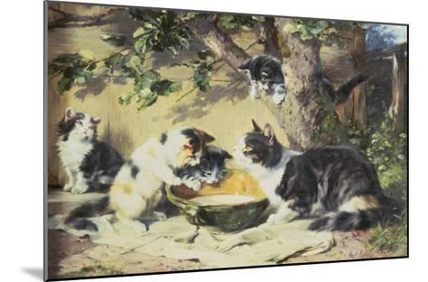 Happy Family-Julius Adam-Mounted Giclee Print