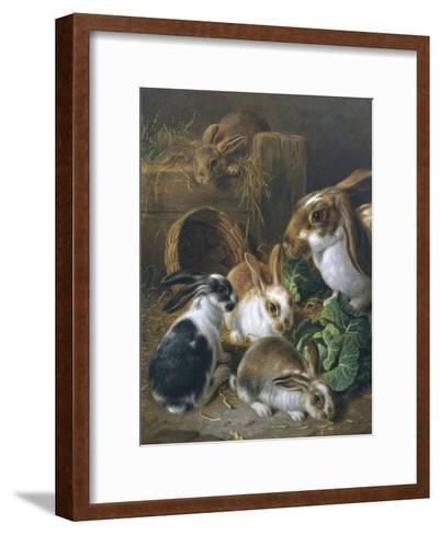 Feeding Time-Alfred Barber-Framed Art Print