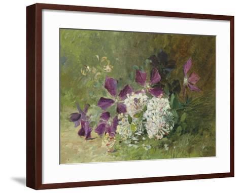 Clematis and Honeysuckle-Albert Tibulle de Furcy Lavault-Framed Art Print