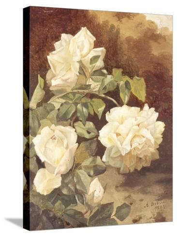 Roses-Alexandre Debrus-Stretched Canvas Print