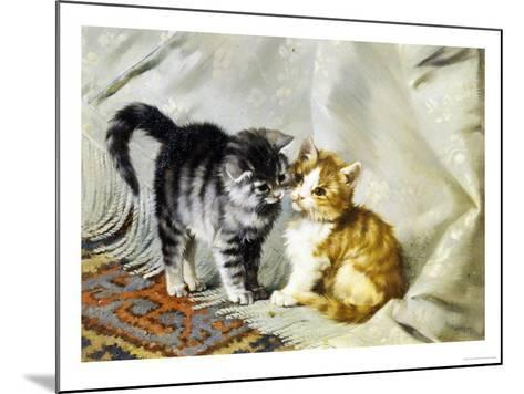 The Introduction: Silver and Ginger Kittens-Julius Adam-Mounted Giclee Print