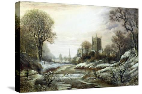 Worcester from the South West-Charles Leaver-Stretched Canvas Print