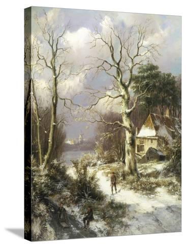 Christmas Eve-Hendrik Barend Koekkoek-Stretched Canvas Print