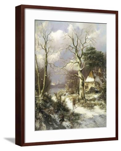 Christmas Eve-Hendrik Barend Koekkoek-Framed Art Print