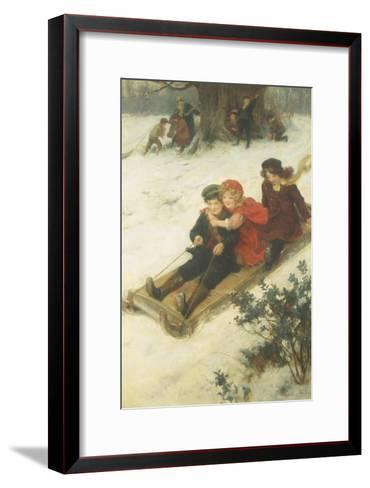 The Sleighride-George S. Knowles-Framed Art Print