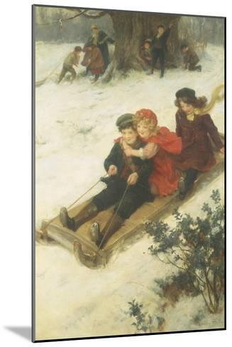 The Sleighride-George S. Knowles-Mounted Giclee Print