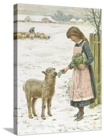 Christmas Treat-Henry Johnstone-Stretched Canvas Print