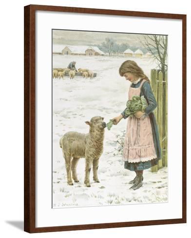 Christmas Treat-Henry Johnstone-Framed Art Print