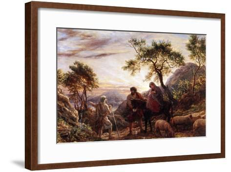 Flight Into Egypt-James Thomas Linnell-Framed Art Print