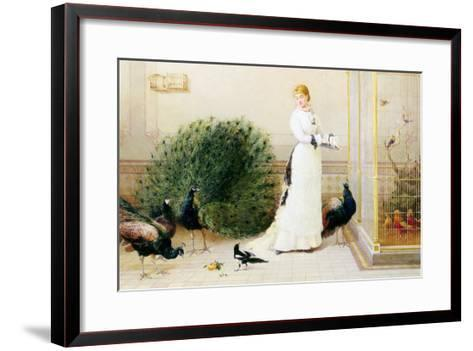In the Conservatory-Heywood Hardy-Framed Art Print