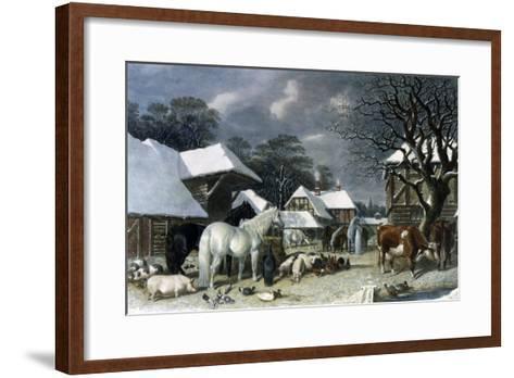 Snowy Farmyard-John Frederick Herring I-Framed Art Print