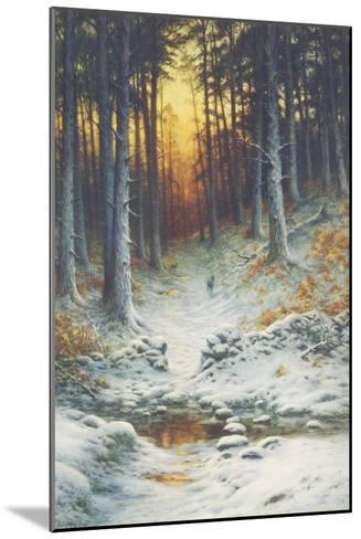 Glowing Sunset-Joseph Farquharson-Mounted Giclee Print