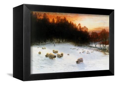 Winter Sunset-Joseph Farquharson-Framed Canvas Print