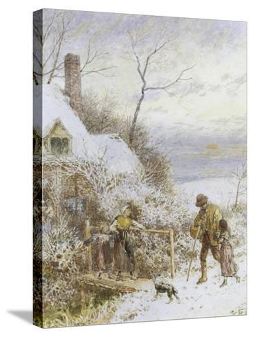 Going Home-Myles Birket Foster-Stretched Canvas Print