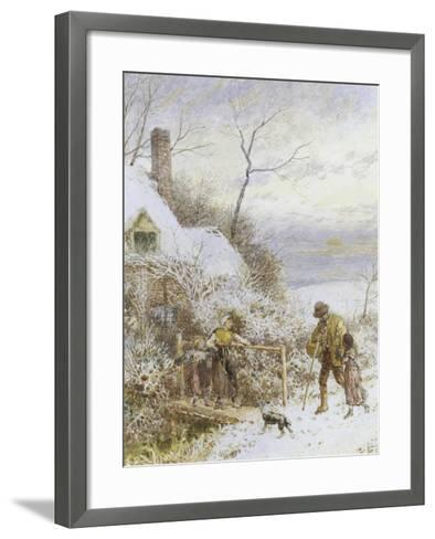 Going Home-Myles Birket Foster-Framed Art Print
