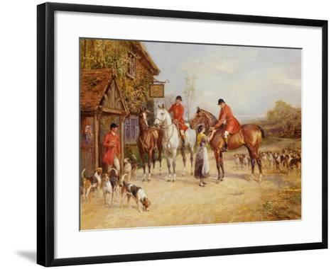 Outside the Three Crowns-Heywood Hardy-Framed Art Print