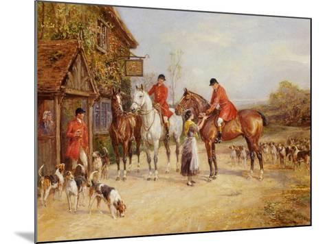 Outside the Three Crowns-Heywood Hardy-Mounted Giclee Print