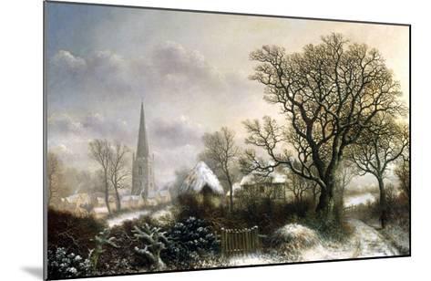 Yardley Church, near Birmingham, in the Snow-Charles Leaver-Mounted Giclee Print