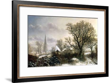 Yardley Church, near Birmingham, in the Snow-Charles Leaver-Framed Art Print