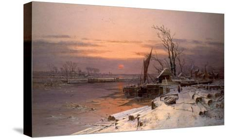 On the Estuary-Charles Brooke Branwhite-Stretched Canvas Print