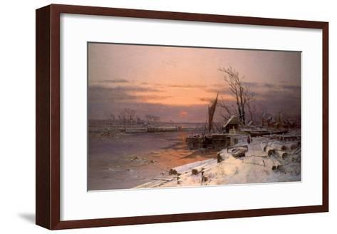 On the Estuary-Charles Brooke Branwhite-Framed Art Print